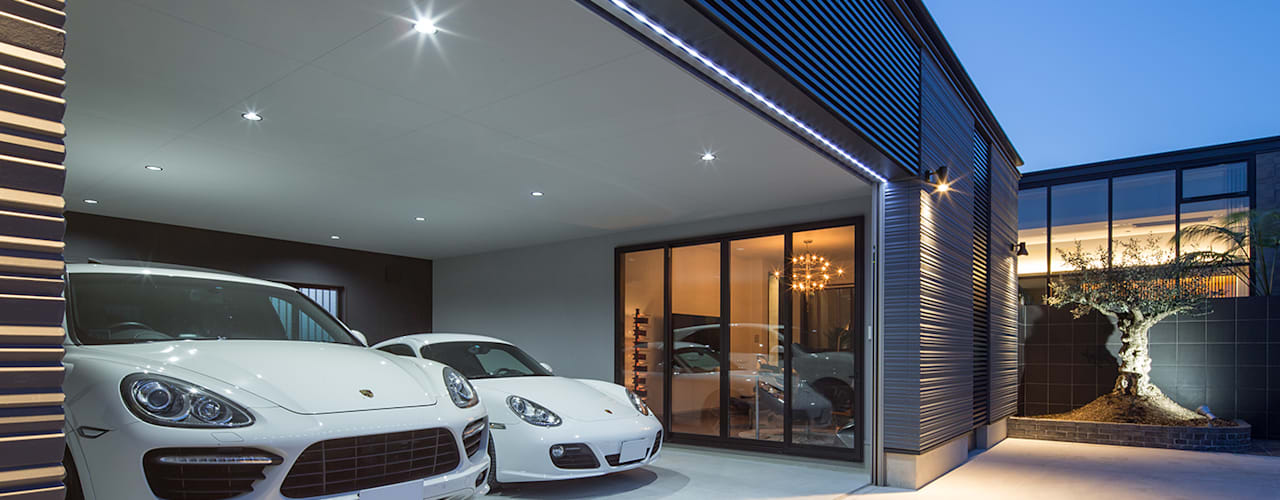 Modern garage/shed by 一級建築士事務所 馬場建築設計事務所 Modern
