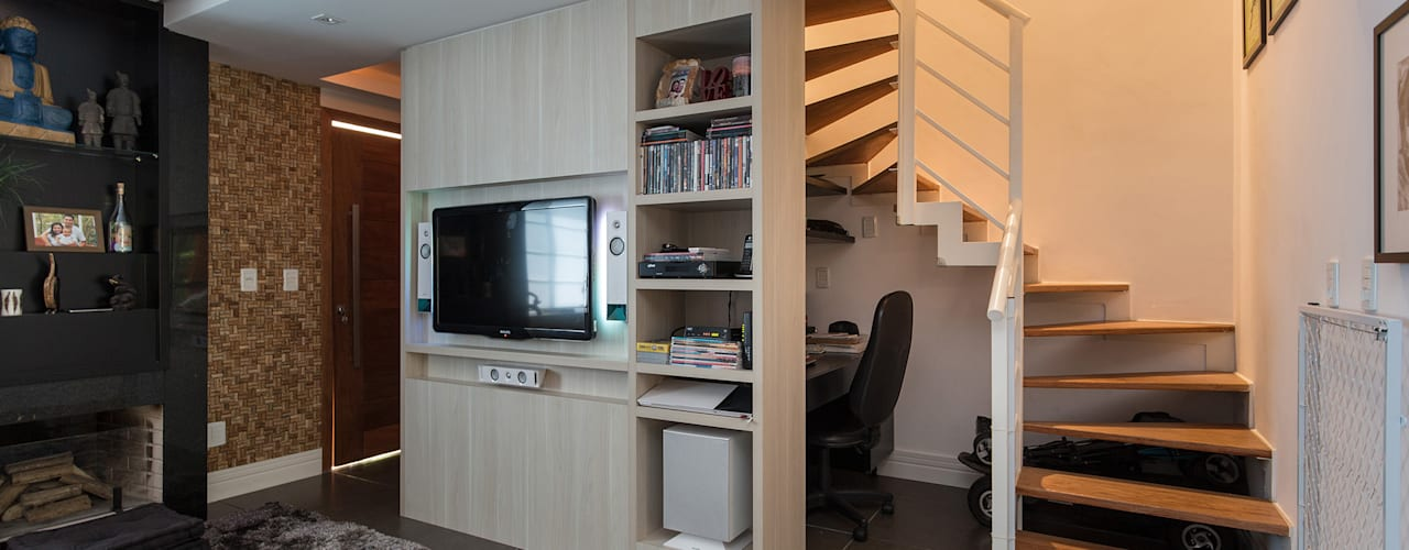 SDV   Projeto de Interiores Salas de estar modernas por Kali Arquitetura Moderno