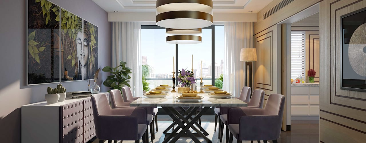 Apartment with a Terrace Modern dining room by Aijaz Hakim Architect [AHA] Modern