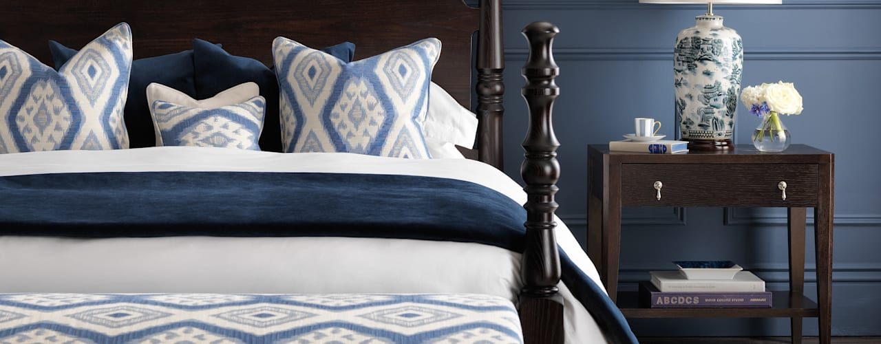 SS16 Style Guide - Coastal Elegance Country style bedroom by LuxDeco Country