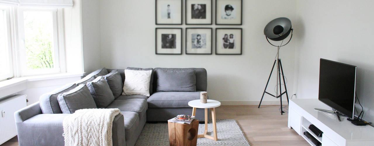 Appartement Amsterdam Moderne woonkamers van By Lenny Modern