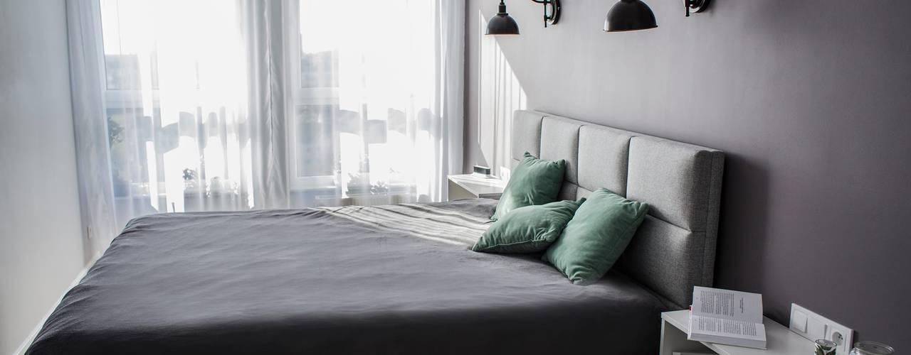 Mint & Grey Nowoczesna sypialnia od Pika Design Nowoczesny