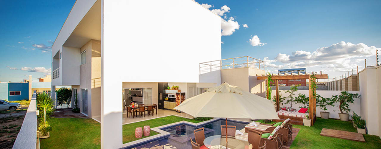 Casas de estilo minimalista de Duo Arquitetura Minimalista