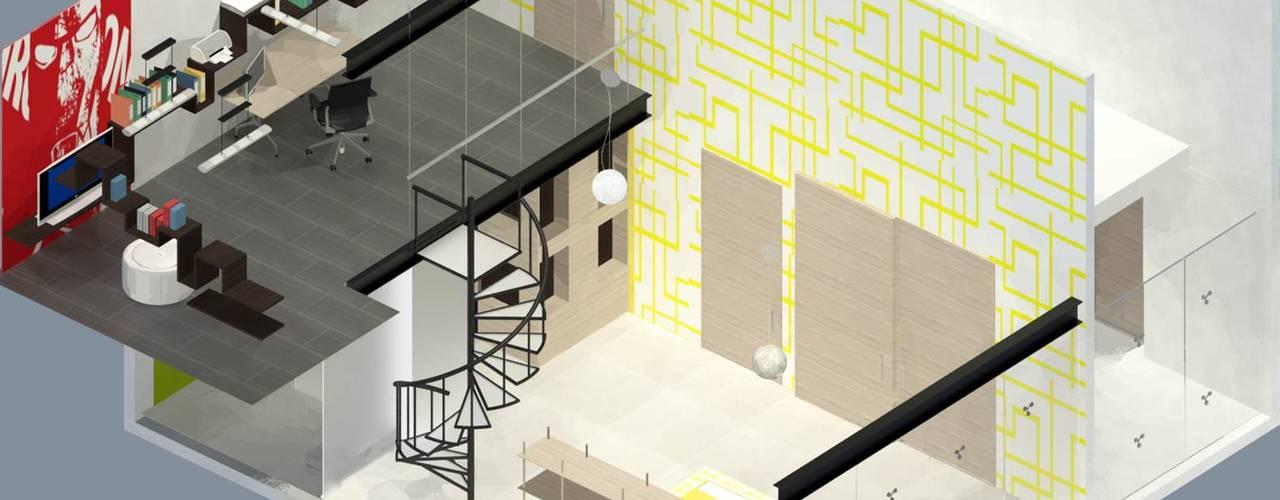 CASA TLX: Recámaras infantiles de estilo  por Molcajete Arquitectura Interiores Diseño, Ecléctico