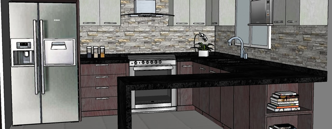 Cocinas de estilo  de H-abitat Diseño & Interiores