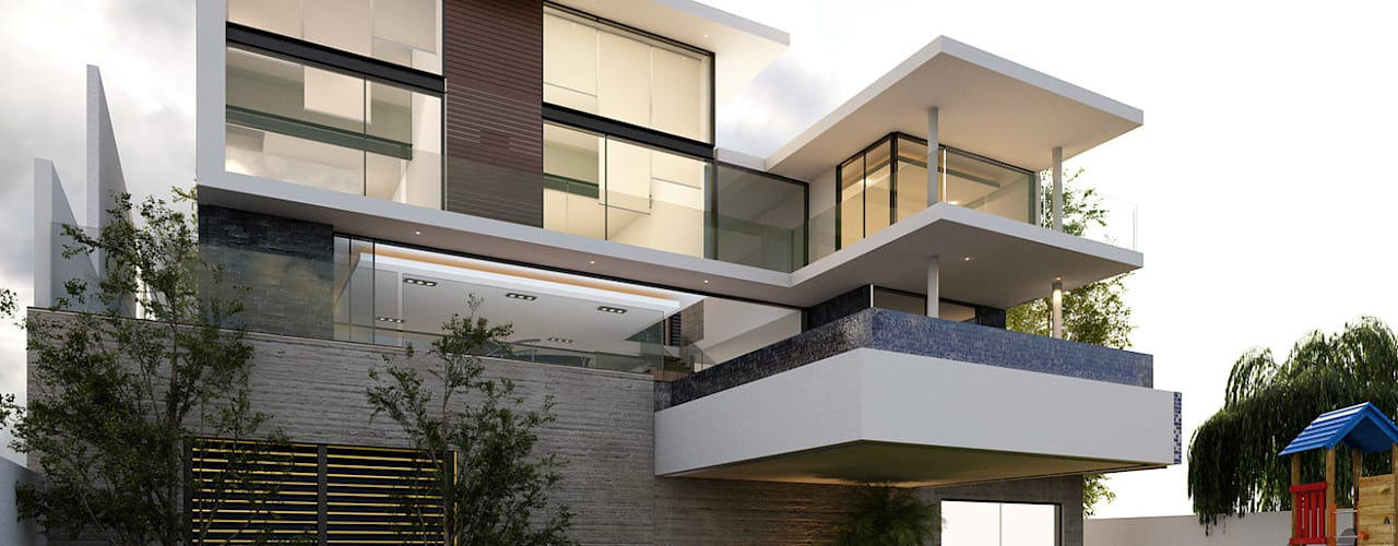 Modern Houses by AParquitectos Modern