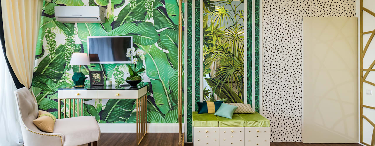 by Tony House Interior Design & Decoration Tropical
