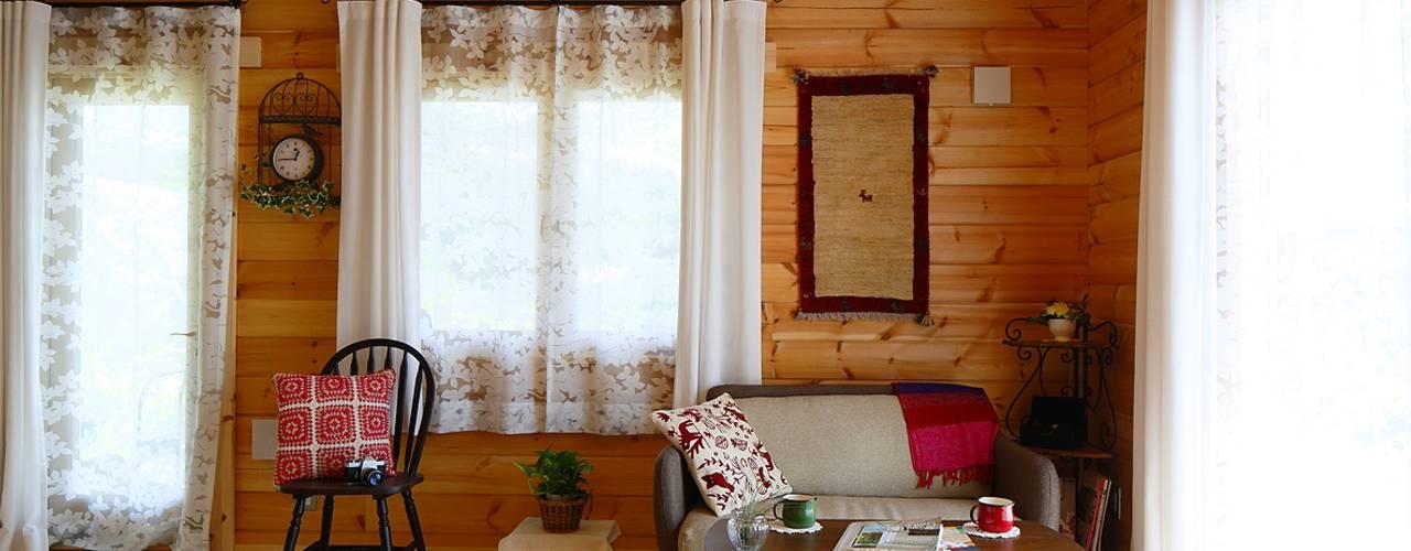 北欧カントリーのログハウス ヤマミチ オフィススペース&店 木