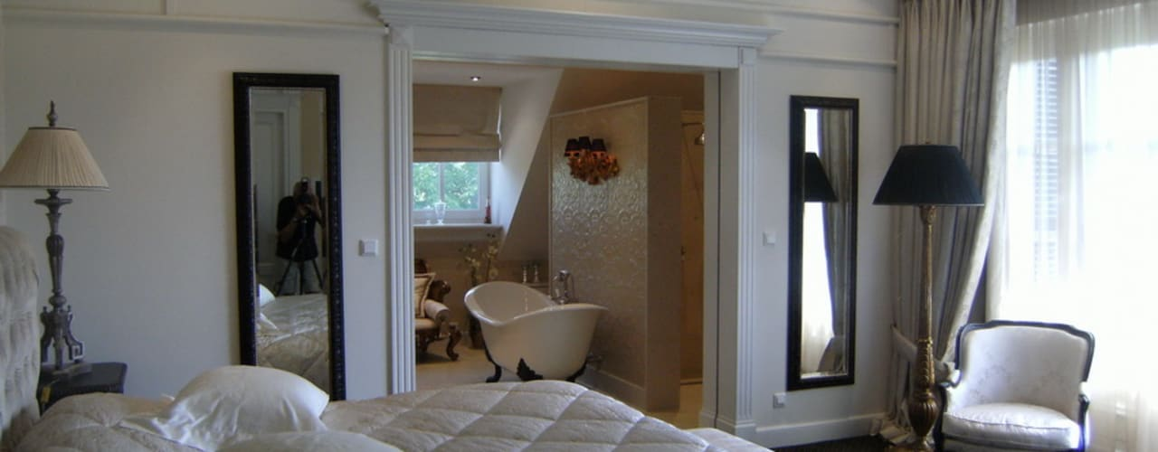 "Notariswoning Villa ""De Hofstede"":  Slaapkamer door Brand BBA I BBA Architecten"