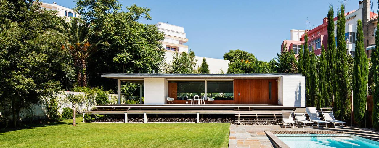 Pavilhão Jardim Casas modernas por Alexandre Marques Pereira, Arquitectura Unipessoal Lda. Moderno