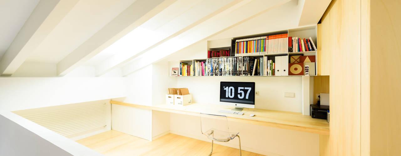 Estudios y bibliotecas de estilo escandinavo de Aina Deyà _ architecture & design Escandinavo