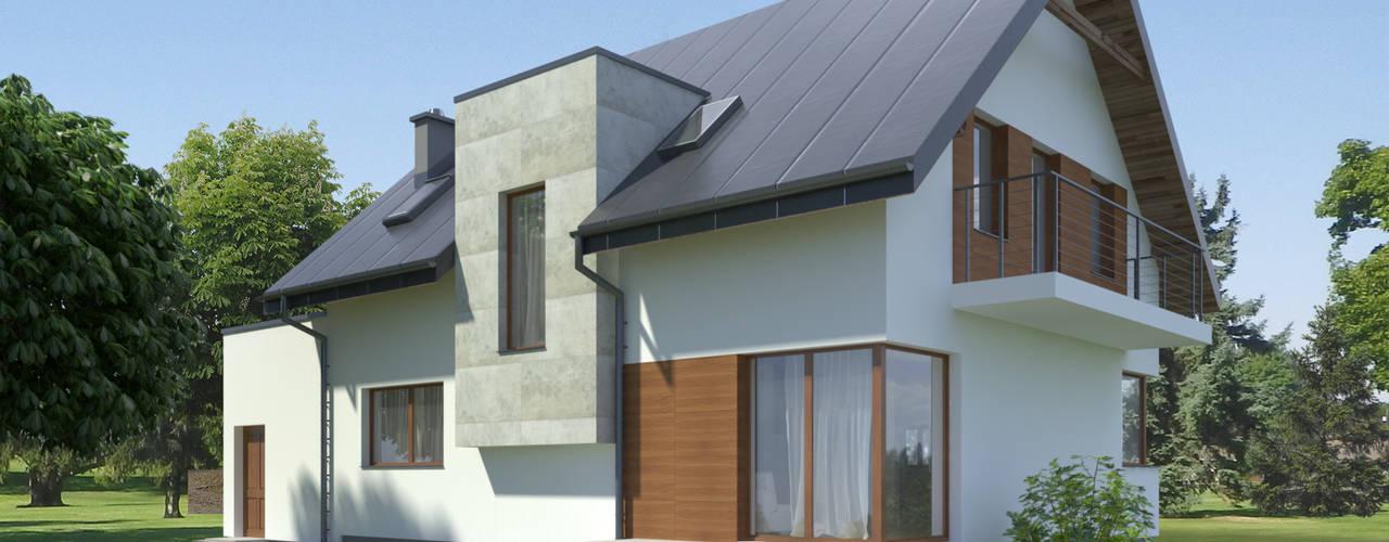 Dom_2: styl , w kategorii  zaprojektowany przez GRZYBUD