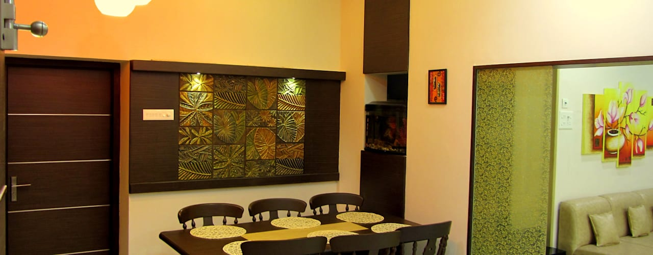 Mr.Senthil & Family Interior Renovation Minimalist dining room by Amar DeXign Scape Minimalist