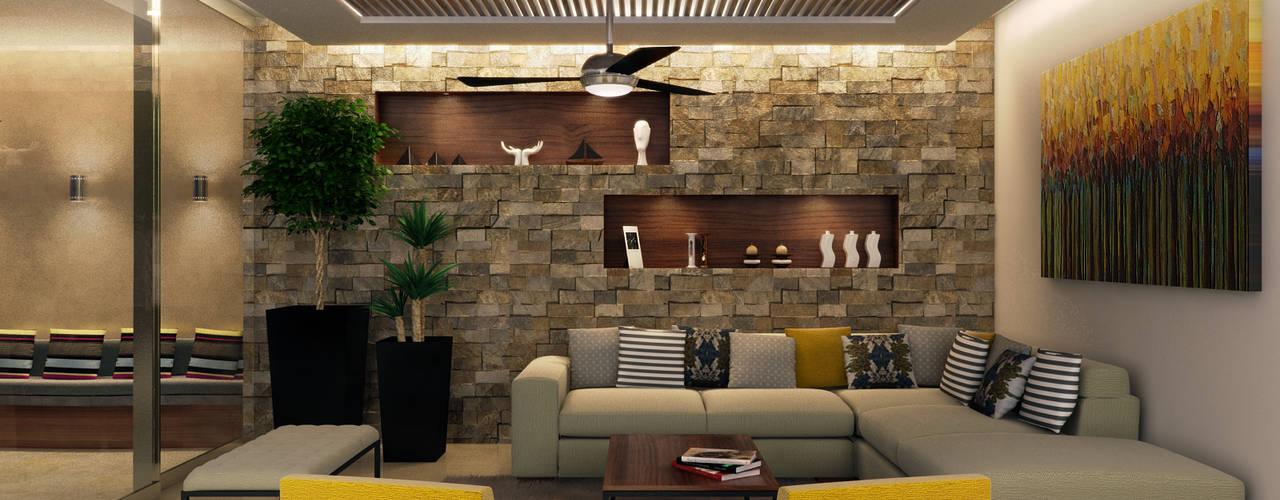 Salas / recibidores de estilo  por Interiorisarte