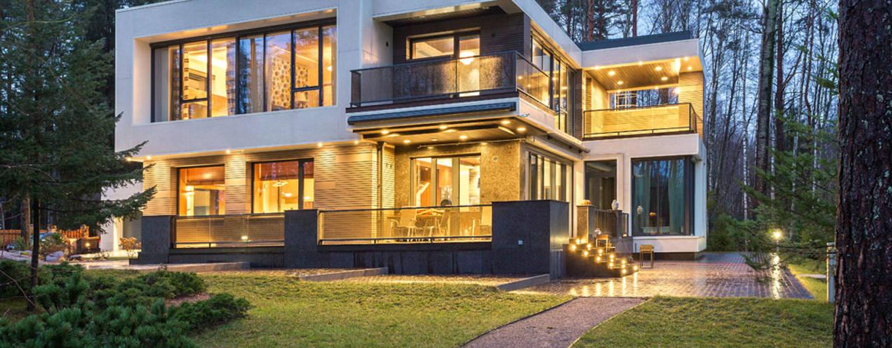 Современный дом у озера Дома в стиле модерн от Дмитрий Кругляк Модерн