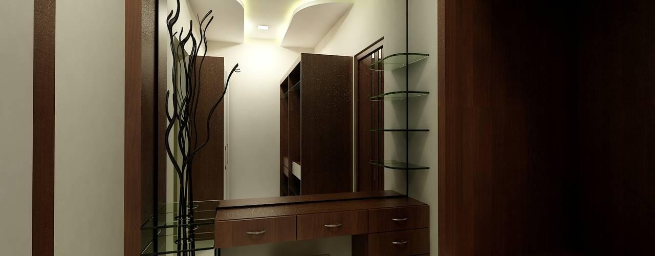 아시아스타일 드레싱 룸 by Shadab Anwari & Associates. 한옥