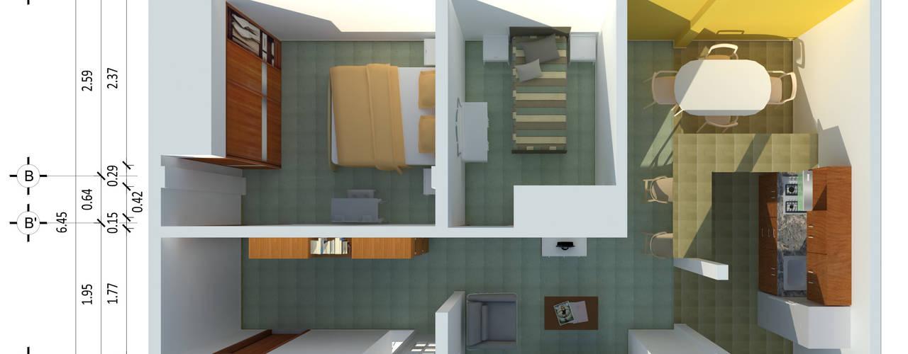 Planta Arquitectonica: Casas de estilo  por Ingenieros y Arquitectos Continentes