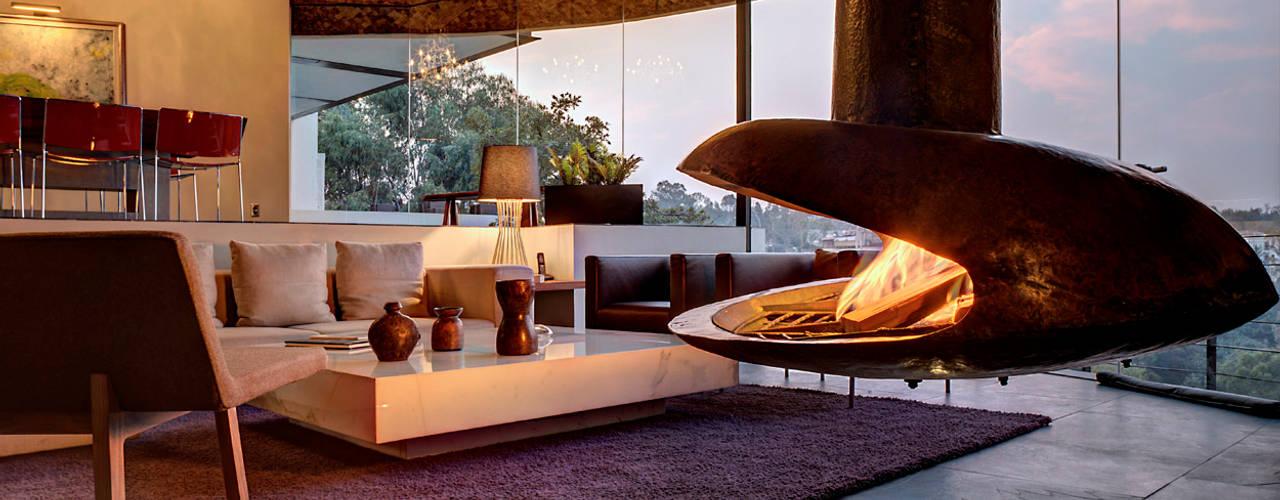 Casa LA 356 - RIMA Arquitectura: Salas de estilo  por RIMA Arquitectura