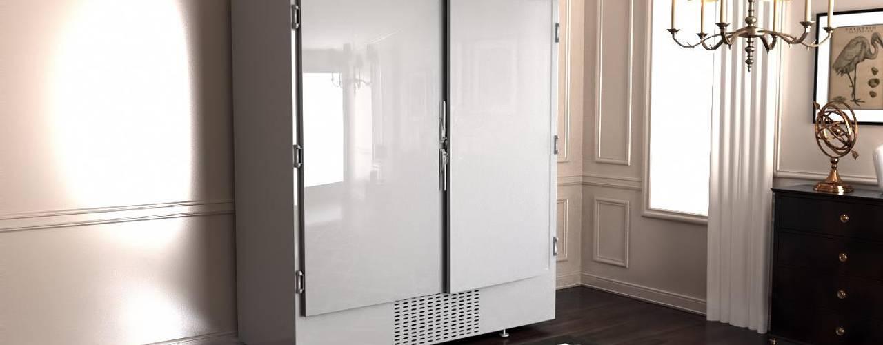 Шубный холодильник в белом цвете от Beauty&Cold Средиземноморский