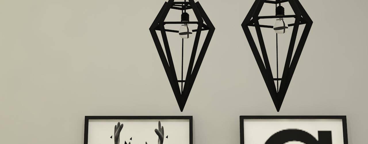 Livings de estilo escandinavo de Arquitecto Ariel Ramírez Escandinavo
