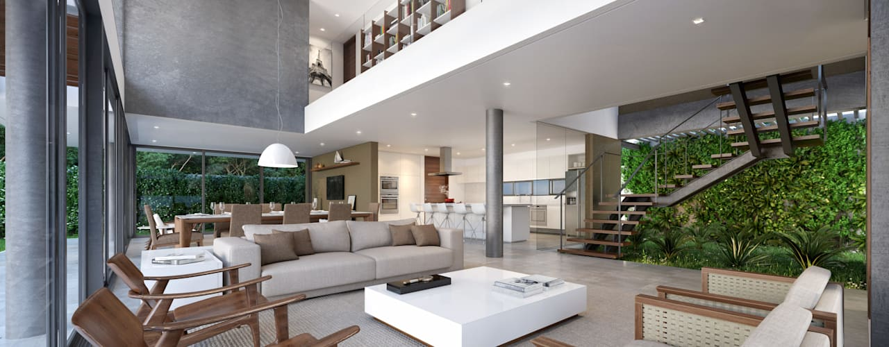 Salas / recibidores de estilo  por Martins Lucena Arquitetos