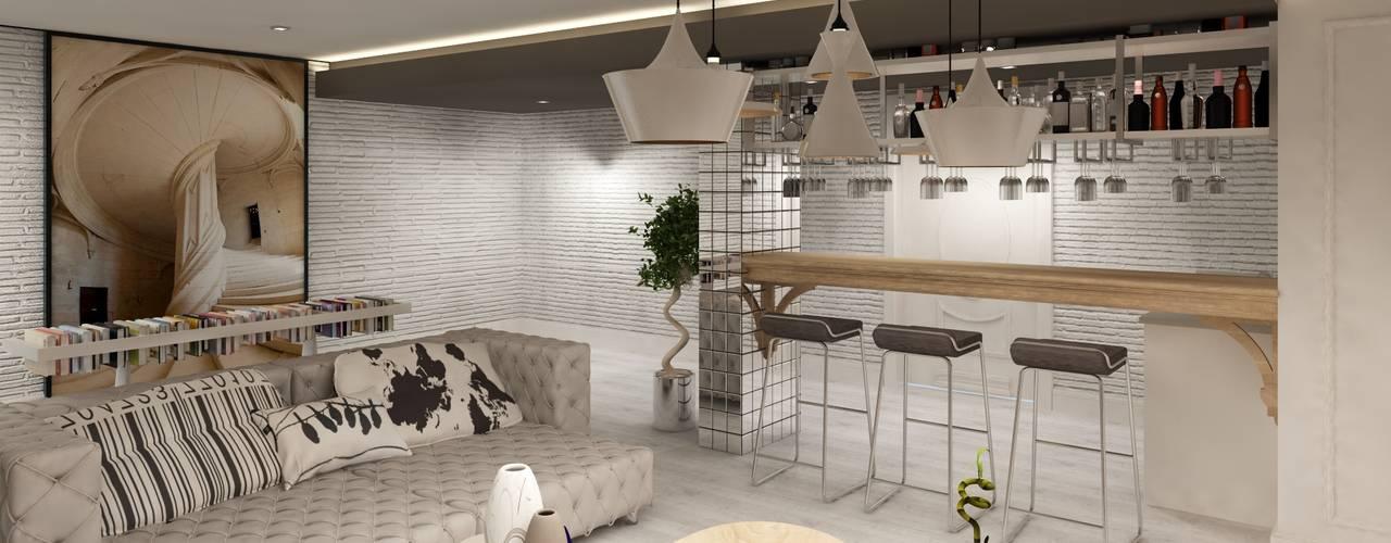 Salas / recibidores de estilo  por Mimoza Mimarlık,