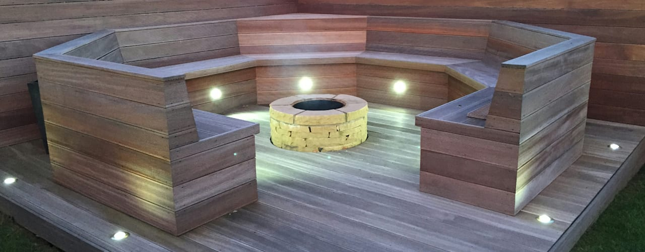Ayrshire outdoor living Modern Garden by Lithic Fire Modern