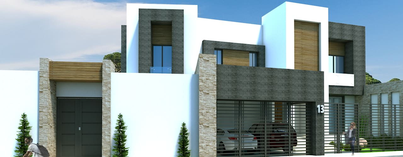Moderne huizen van Acrópolis Arquitectura Modern