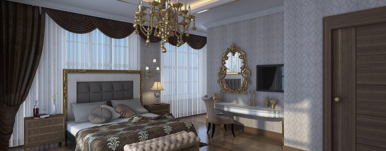 غرفة نوم تنفيذ Mimoza Mimarlık,