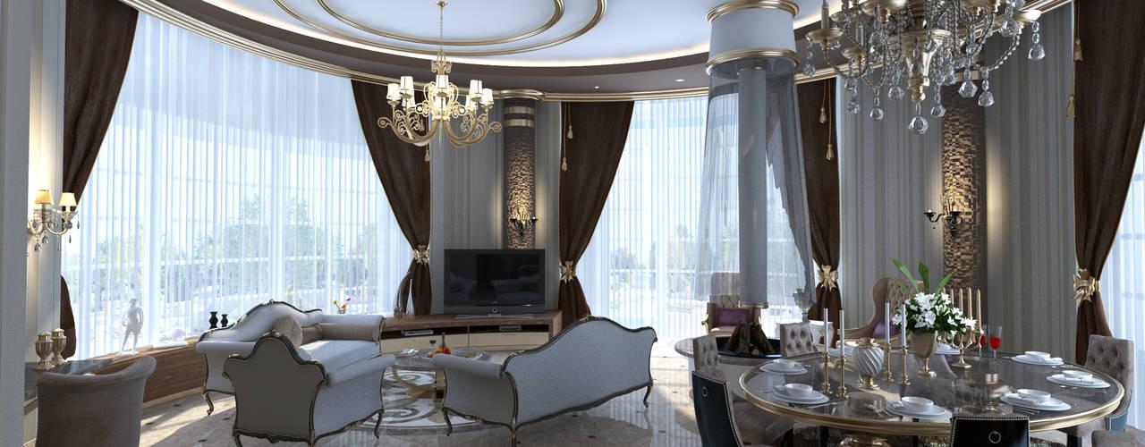 VILLA ZARBIANUS -IRAK Klasik Oturma Odası Mimoza Mimarlık Klasik