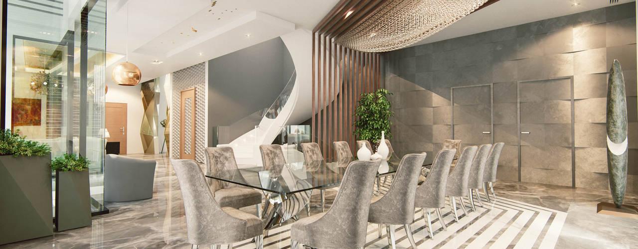 Projekty,  Jadalnia zaprojektowane przez Aum Architects
