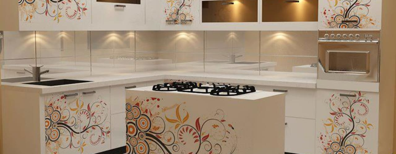 Dream space Interiors Kitchen Plywood Amber/Gold