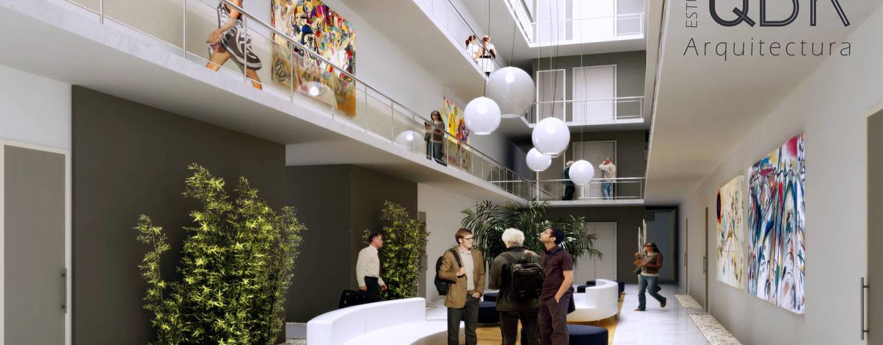 Imágenes 3D: Livings de estilo  por QBK Arquitectura