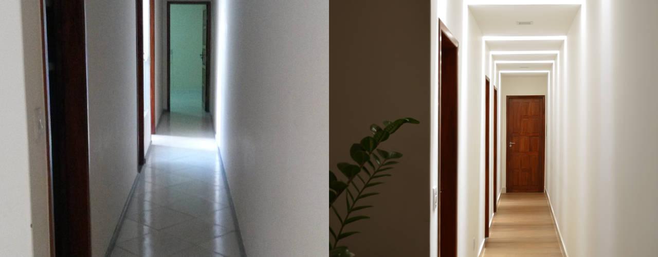 Reforma Residência: Corredores e halls de entrada  por CARDOSO CHOUZA ARQUITETOS