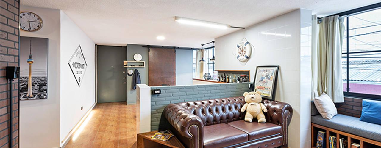 Salas de estilo industrial de MX Taller de Arquitectura & Diseño Industrial