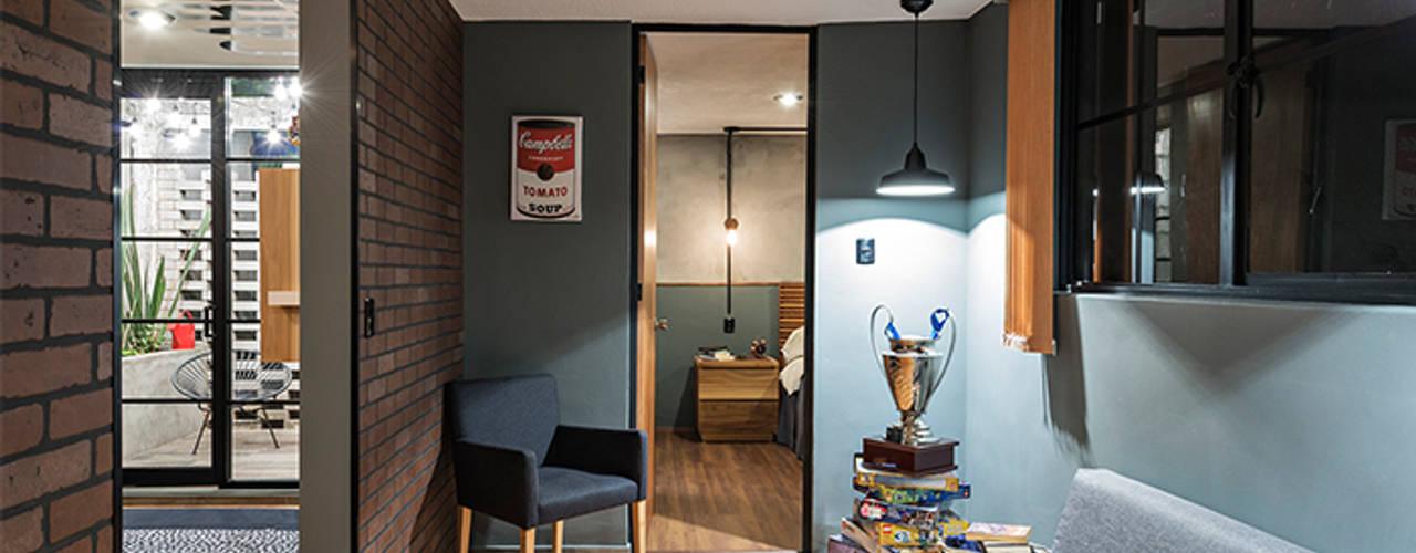 Couloir et hall d'entrée de style  par MX Taller de Arquitectura & Diseño