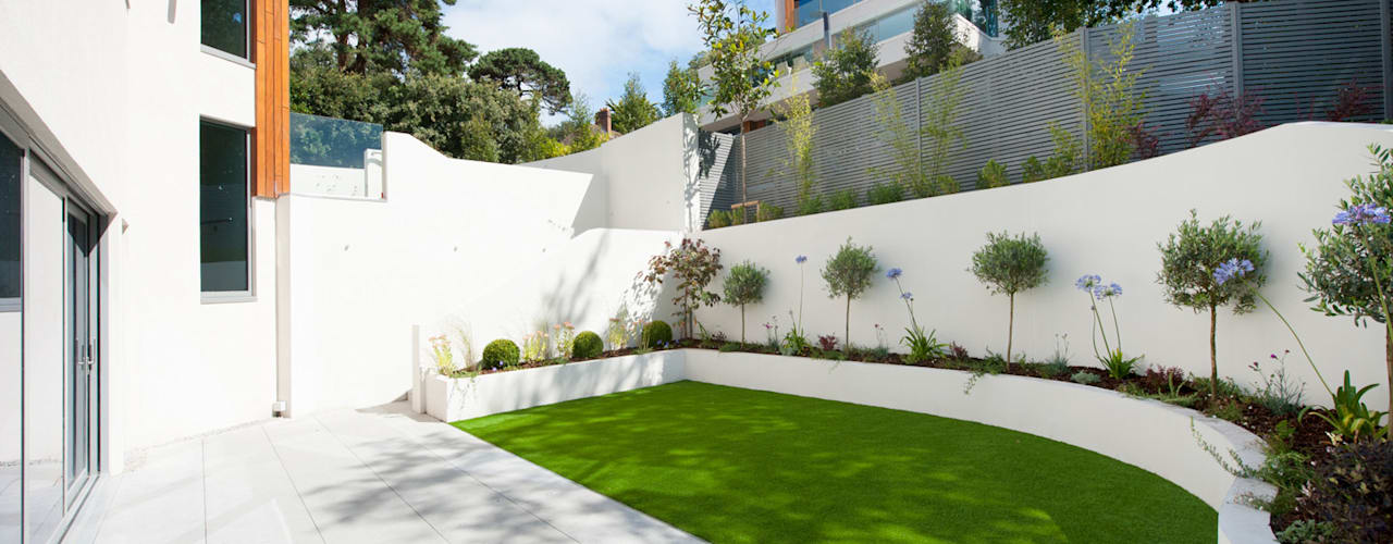 Brudenell Avenue, Canford Cliffs, Poole Jardines modernos de David James Architects & Partners Ltd Moderno