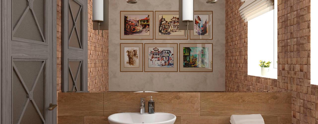 Baños de estilo  por Студия дизайна Дарьи Одарюк