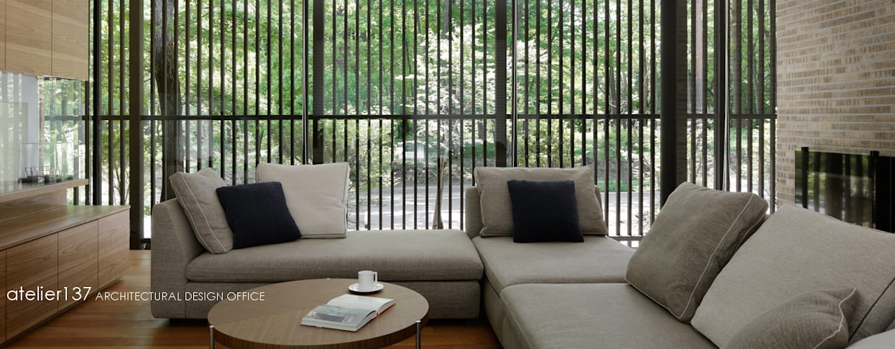 038那須Fさんの家 モダンデザインの リビング の atelier137 ARCHITECTURAL DESIGN OFFICE モダン