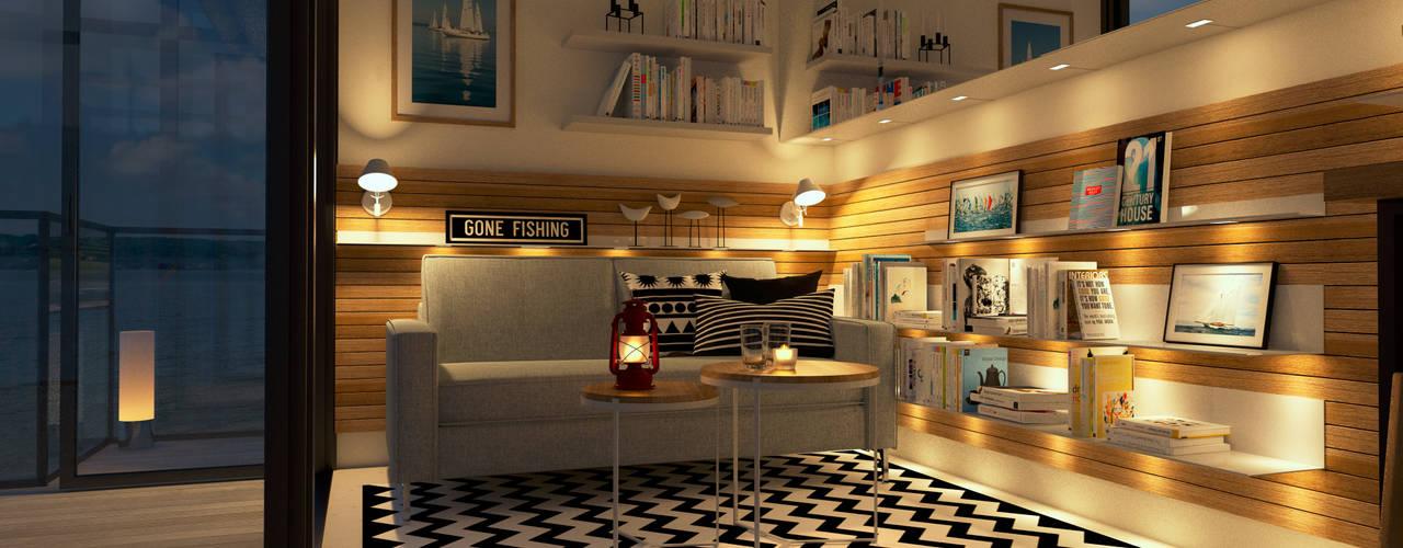 Living room by Innenarchitektur | Ina Nimmrichter