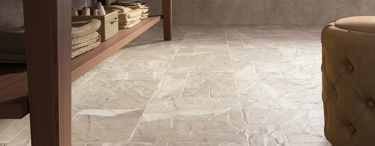 Senate Stone Effect Porcelain Flagstone Tiles:   by The London Tile Co.
