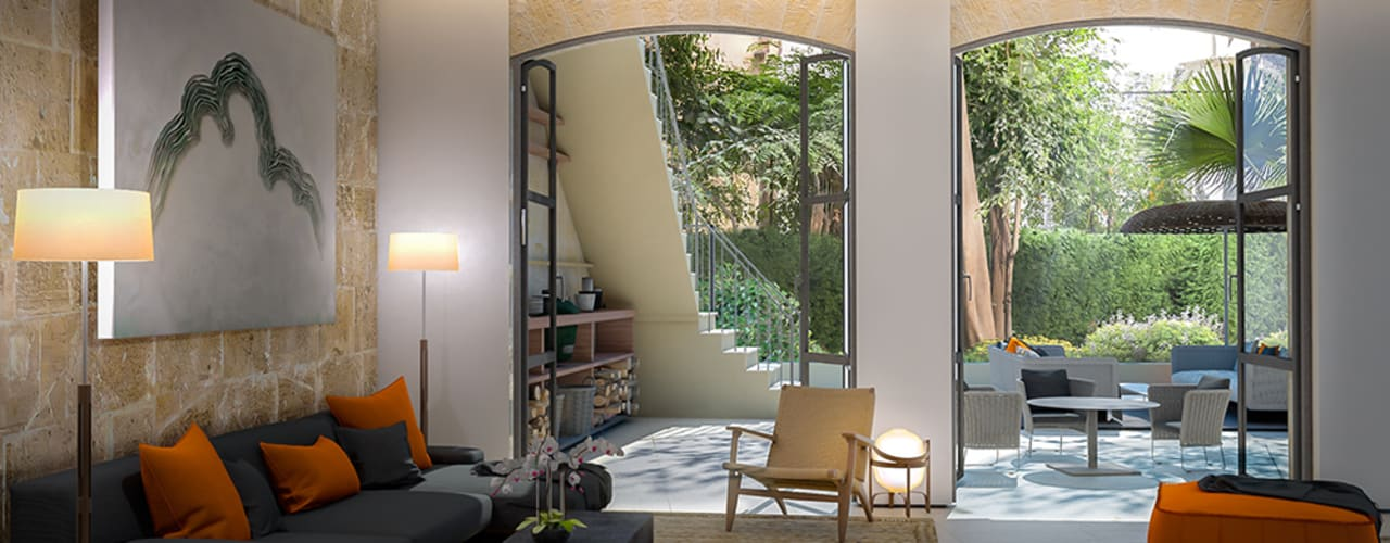 Calle Campana, Palma, Majorca : eclectic  by 4D Studio Architects and Interior Designers, Eclectic