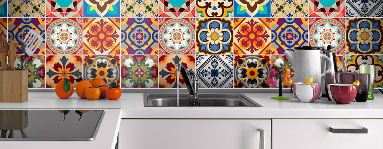 Talavera Traditional Tile Decals:   por MOONWALLSTICKERS.COM