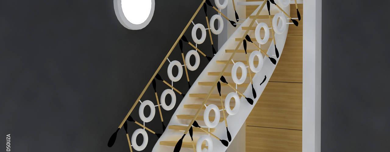 Corredores, halls e escadas modernos por Preetham Interior Designer Moderno