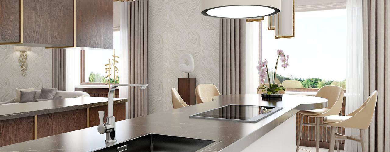 PROJECT WAS DELETED! Кухни в эклектичном стиле от Porterouge Interiors \ Krasnye Vorota Эклектичный