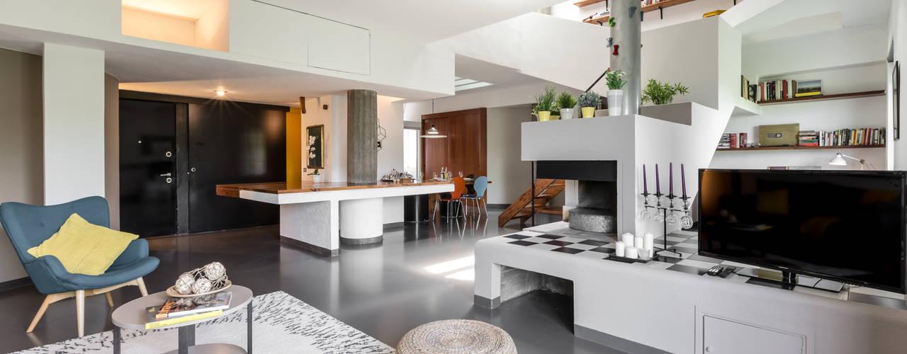 Гостиная в стиле модерн от Architrek Модерн