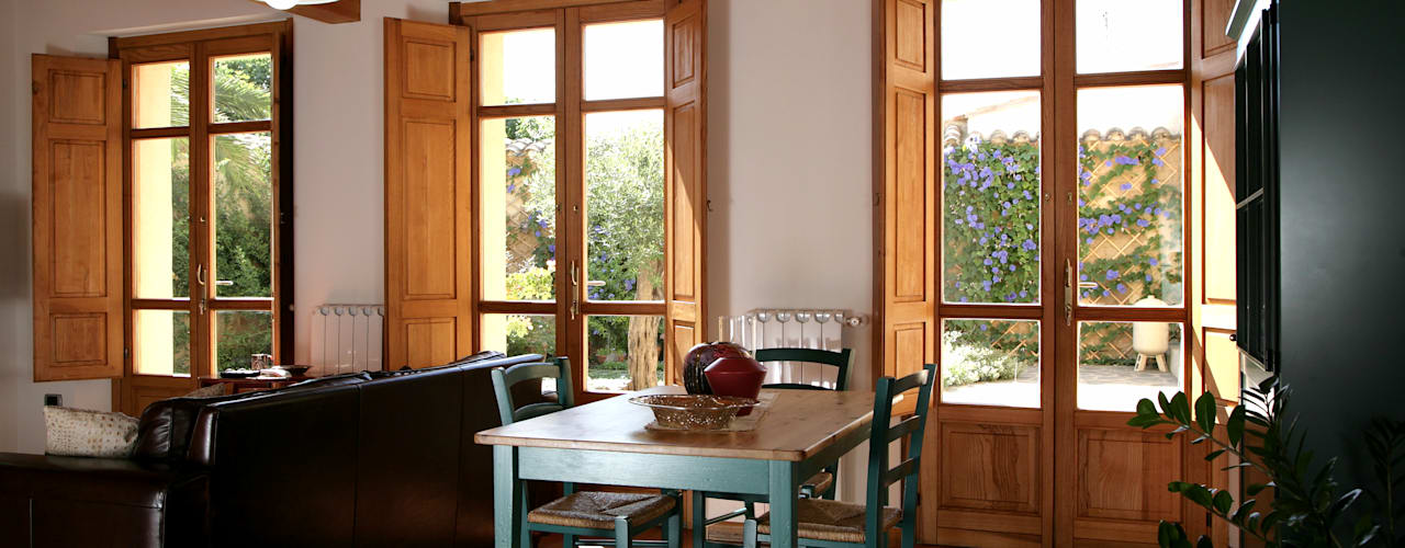 غرفة المعيشة تنفيذ Studio di Architettura Ortu Pillola e Associati