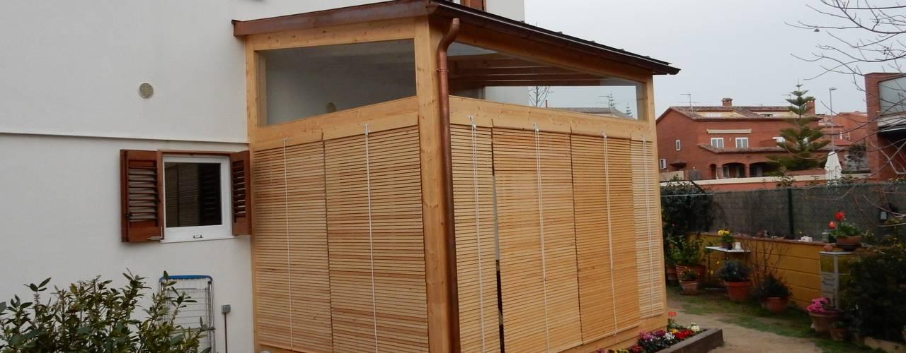 Casas de estilo  por Lignea Construcció Sostenible, Moderno