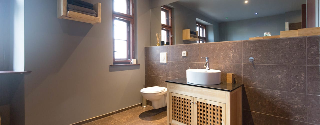Baños de estilo  por woodboom , Rústico