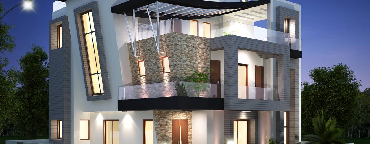 SADHWANI BUNGALOW:  Houses by Square 9 Designs,Modern